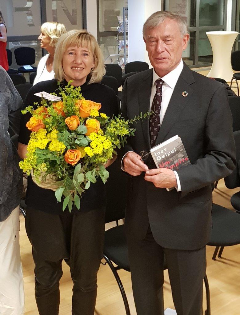 Frau Prof. Ines Geipel zusammen mit Bundespräsident a.D. Horst Köhler (Foto: Katy Pohl )